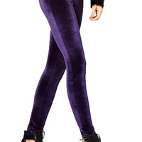 Solid Color Narrow Feet Velvet Leggings