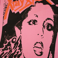 Xray Spex Punk Tshirt - Bondage up yours - Poly Styrene - Pink  - Womens Medium uk 12  - 34 chest