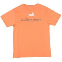 Southern Marsh Authentic SS Pocket Tee in Melon