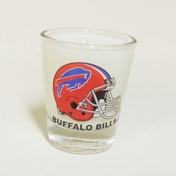 Buffalo Bills Soy Candle - Shot Glass Candle - CHOICE OF SCENT