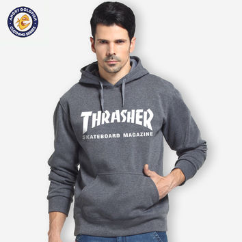 Winter Clothes Fleece Trasher Hoodie Hip Hop Skateboard thrasher Hoodie Men Sweatshirts Pullover Track suit Element Hoodies