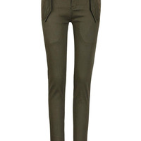 Army Green Pocket Design Trousers