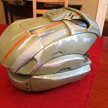 Custom Halo Spartan Helmet Kit: Archer Variant.  Made for large heads (24 inches/ 7.5 hat size and up)