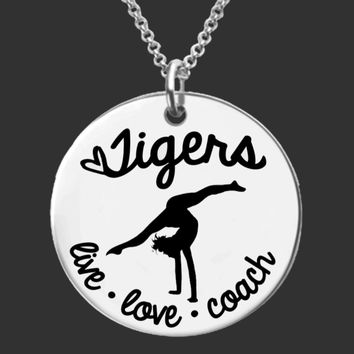 Gymnastics Coach Personalized Necklace