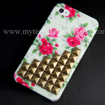 Iphone 4 Case Studded iPhone 4s Case Antique by MyTeenageDream