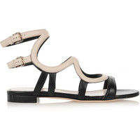 Sergio Rossi - Two-tone leather sandals