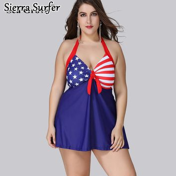 Plus Size Swimwear Large Size Big Swimsuit Woman Swimwear Women Plus For Fat Women New 2018 Fat More Durability Flag Large For