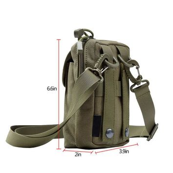 Sports gym bag Outdoor Tactical Molle Pouch EDC Utility Sports Waist Bag with Cell Phone Holster Holder KO_5_1
