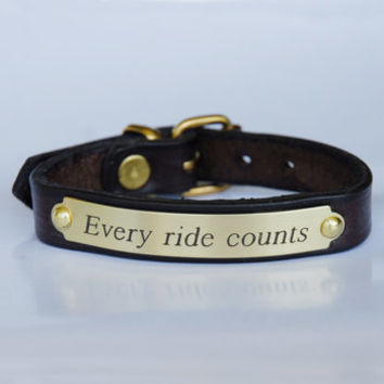 Every Ride Counts<br>Equestrian Bracelet<br>$22.00-Wild Horsefeathers