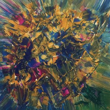 Bouquet of Flowers Abstract Art Painting on Canvas