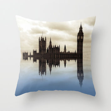 Westminster Afloat Throw Pillow by Shalisa Photography