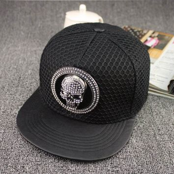 Skull Baseball Cap Adjustable Snapback men and women