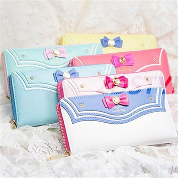Chenier OPAL FERRIE - 2017 New Vega Sailor Moon Long Zipper Leather kawaii Wallet Purse