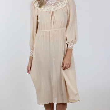 Pretty in Peach Victorian Dress