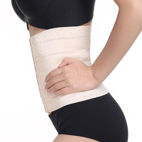 Hot-sale 4 Sizes Wave Pattern Postpartum Stomach Wrap Slim Belt Maternity Slim Postpartum Cos Play Corset Air Ventilation Abdomen Belly Belt Waist Trimmer Slimming Body Shaper Waist Belt Spandex Elasticated Belt for Men & Women = 1946119620