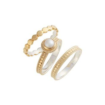 Anna Beck Pearl Set of 3 Stack Rings | Nordstrom