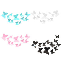 12 Pcs/Lot Butterflies 3D Wall Stickers Art DIY Home Decorations PVC Removable Decors Wedding Decorations Wall Decals Sticker