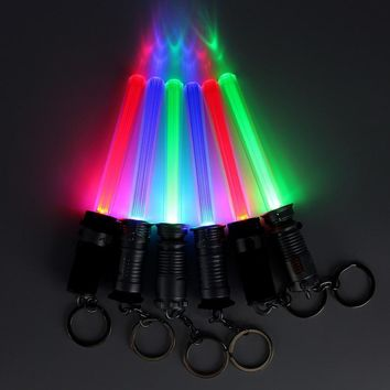 Star Wars Force Episode 1 2 3 4 5 1pcs/set  Light Sword Saber Mini Lightsaber Hobbies Action Figures Luminescent Toys For Children Cosplay Props Kids AT_72_6