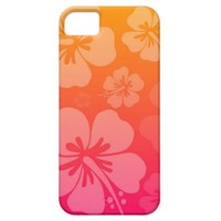 Tropical Floral Sunset iPhone 5/5S cases