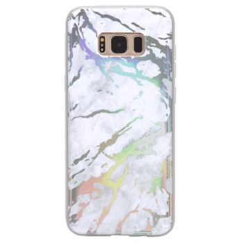 Holo White Marble Samsung Galaxy Case