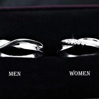 2pcs Free Engraving platinum infinity rings,Wedding Couples Rings,Lovers rings, his and hers promise ring sets, wedding rings, matching ring