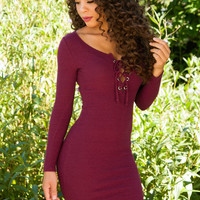 Shop Priceless Amie Dress - Burgundy
