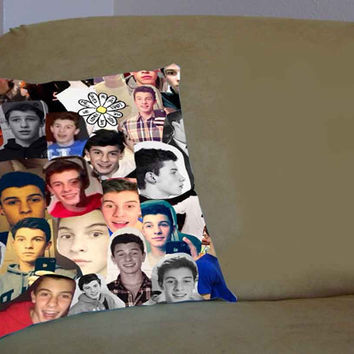 Shawn Mendes Collage - Pillow Case, Pillow Cover, Custom Pillow Case **