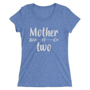 Women's Mother of Two t-shirt - Mom of 2 Kids gift