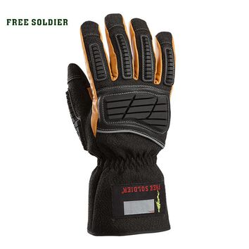Tactical gloves thickening wear-resistant thermal gloves skiing ride sports full finger gloves for men's
