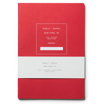 Public Supply Notebook - Red