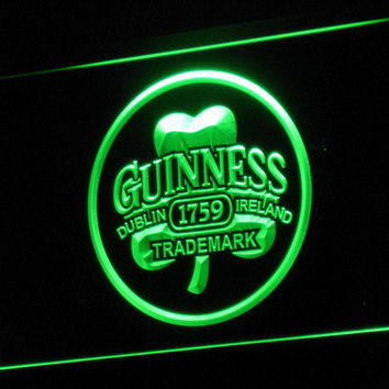 Guinness Beer Dublin Ireland Bar LED Neon Sign with On/Off Switch 7 Colors to choose