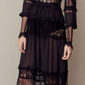 Alexa Maxi Dress by For Love & Lemons | SHOPLUNAB