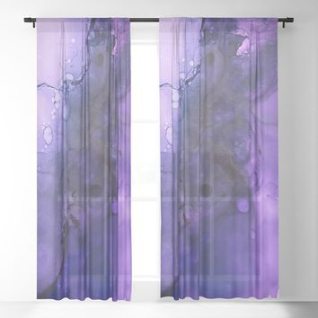 Sahasrara (crown chakra) Sheer Curtain by duckyb