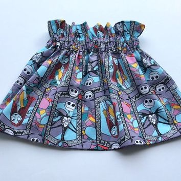 Nightmare Before Christmas Skirt- Nightmare Before Christmas Outfit; Halloween Skirt; Halloween Outfit; Baby Skirt; Baby Outfit; Halloween