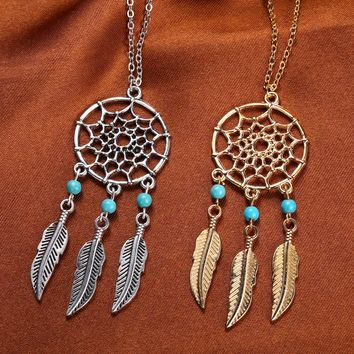 accessories jewelry Dream catcher leather pendant necklace for women girl