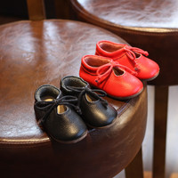 Children Korean Leather Anti-skid Butterfly Princess Shoes [4920310084]