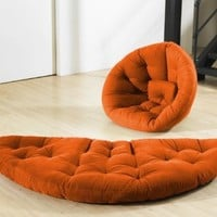 Fresh Futon Nido Orange: Home & Kitchen