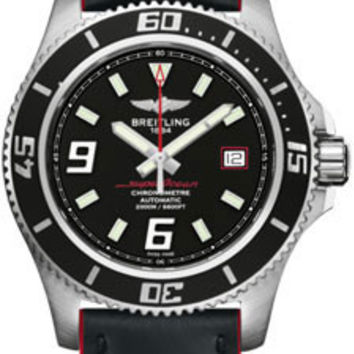 Breitling - Superocean 44 Satin Steel - Leather Superocean Strap