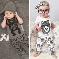 children's clothing style baby clothing set boy little monsters short sleeve 2 piece.