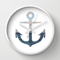 anchor Wall Clock by McKenzie Nickolas (kenzienphotography)