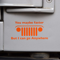 Jeep Go Anywhere Decal by GraphicForest on Etsy