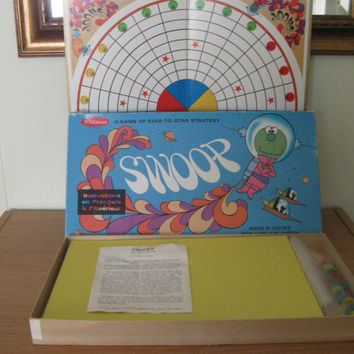Vintage Swoop Board Game by Whitman, Rare Complete from 1969, Family Game, Childrens Game, Spacemen, Board Game, Entertainment,