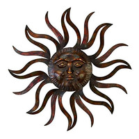 Iron Cast Apollo Face Metal Sun Wall Decor Feel Empowerment