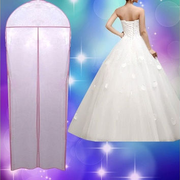 "72"" Breathable Wedding Prom Dress Gown Garment Storage Bag Clothes Cover Zip [7983232007]"
