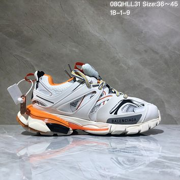 KUYOU Balenciaga Sneaker Tess.s.Gomma 3.0 Running Shoes White Orange