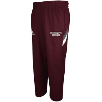 Mississippi State Bulldogs adidas Football Sideline Performance Warm Up Pants – Maroon