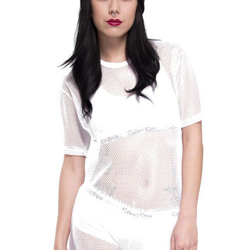All Meshed Up T-Shirt Dress