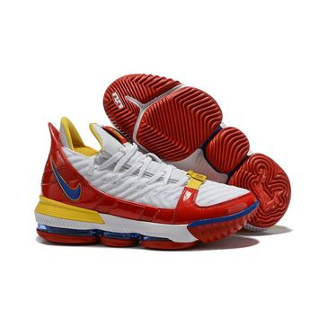 Nike LeBron 16 White Red Yellow Men Sneaker - Best Deal Online