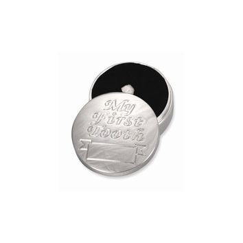 Babys My First Tooth Silver-plated Box - Engravable Personalized Gift Item