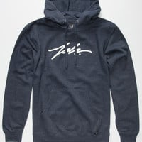 Jslv Signature Mens Hoodie Navy  In Sizes